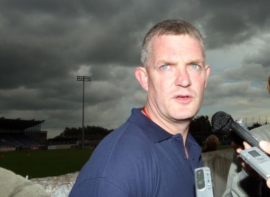 Nicky English managed Tipperary to All-Ireland success in 2001.