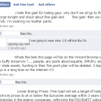 A screen grab of Fine Gael's Facebook page, taken at 7:42pm.