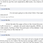 A screen grab of Fine Gael's Facebook page, taken at 8:20pm - again, with comments deleted.