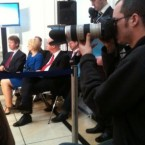 Fianna Fail's Eamon O Cuiv finds it hard to stay awake at the FF Manifesto launch on Monday... (via @BrianODTV3)