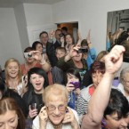 One onlooker seems less than impressed as Mary Byrne gives a concert in a competition winner's front room. Image: Sasko Lazarov/Photocall Ireland