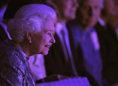 The Queen takes in the show at the Dublin Convention Centre last night