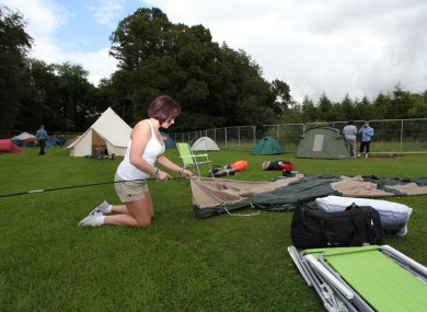 It's a tricky business, setting up a tent.
