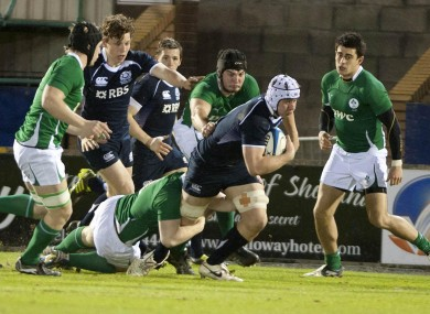 Ireland produced a gritty display to beat Scotland.