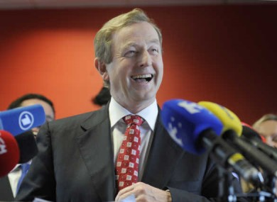 Enda Kenny has plenty to smile about, according to the latest political opinion polls.