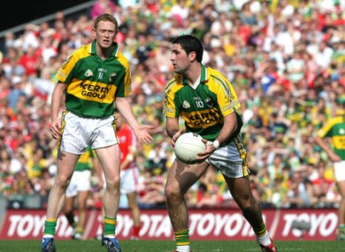 Sheehan, right, and Colm Cooper.