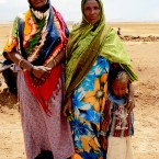 Halima Nur and her friend Hawa benefit from Oxfam's cash-for-work projects in Aynhashahadig in southern Ethiopia.