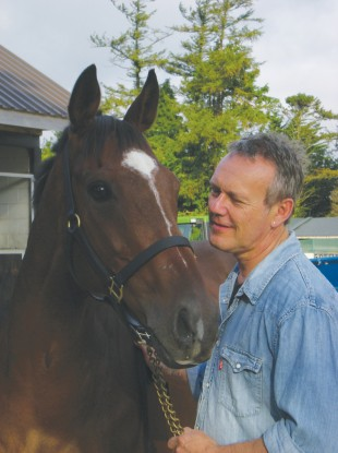Buffy Star Anthony Head with Moscow Flyer, one of the IHWT's residents