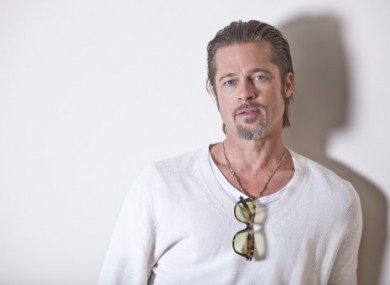 The rather symmetrical face of Brad Pitt