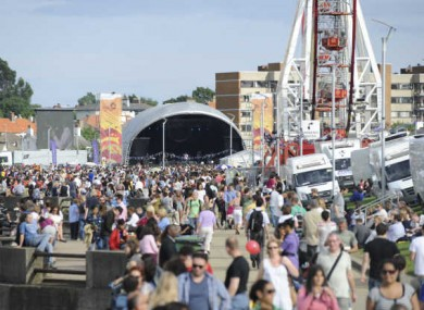 Crowds attend the Dún Laoghaire Festival of World Cultures. A festival intended to act as a replacement has been cancelled at the eleventh hour.