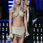 Former WWF wrestler Stacy Keibler looking fit on Dancing with the Stars.