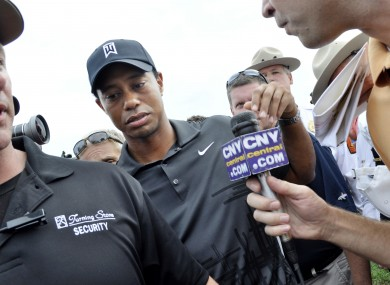 Woods at a recent challenge tournament in New York