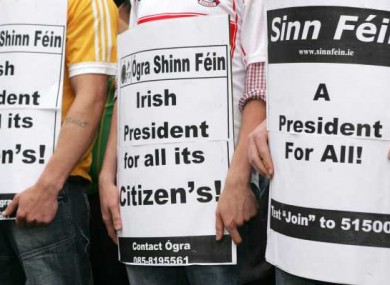Last month, Sinn Féin protested for voting rights to be extended to Northern Ireland citizens.