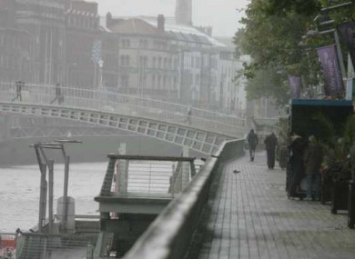 A wet and windy day in Dublin earlier this week.