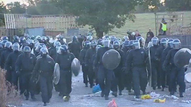 Dale Farm riot police
