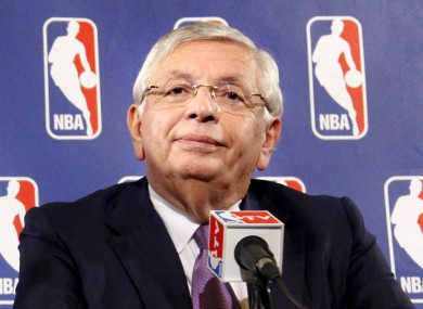 David Stern: NBA commissioner and pleasant-looking oldster.