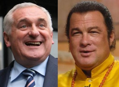 Bertie Ahern and Steven Seagal competed for our attention