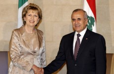 McAleese to meet Irish troops in Lebanon on final official trip
