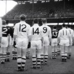 Standing to attention at the 1956 decider between Galway and Cork.