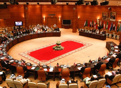 The Arab League foreign ministers meet in Rabat, Morocco earlier this week