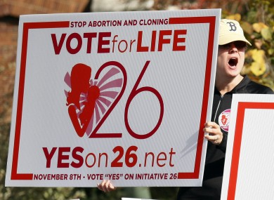 A pro-life campaigner in Mississippi yesterday urging voters to pass the controversial measure. The amendment failed.