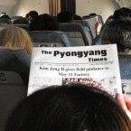 Fancy some in-flight reading? Your selections might be slightly limited - though now that the Supreme Leader has passed, the front-page stories may show a little more variety. 
