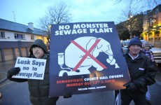 Fingal residents protest against 'monster' sewage plant