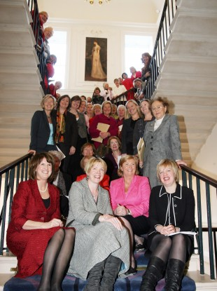 Female politicians celebrating 90 years of women in the Oireachtas in 2008