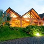 The beautiful Hotel Mountain Paradise in Costa Rica is in the middle of the Arenal Volcano National Park, and boasts lush surroundings, a swim-up bar and so much to do see and do. Gorgeous.