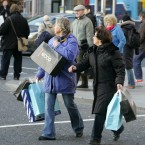 Shoppers out in Dublin today