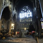 The full extent of the damage is not yet known - but the parish priest has said it could be months or years before it re-opens. Photograph: Sasko Lazarov /Photocall Ireland