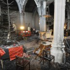 The remnants of the church Christmas tree. Photograph: Sasko Lazarov /Photocall Ireland
