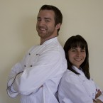 Two chef's jackets, modelled here in his'n'hers form (JMR_Photography on Flickr)