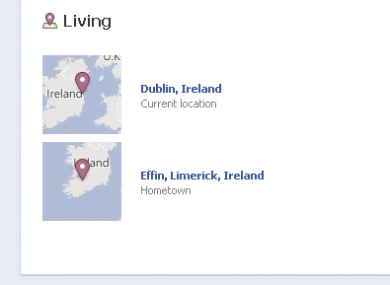 The Effin miracle that Limerick people thought they'd never see: Facebook now allows people from the Effin parish to declare it as their hometown.