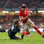 At the heart of a brilliantly dynamic Welsh display was the one back who doesn't cast a terrifying shadow. Halfpenny relies on good old fashioned intelligence, speed and skill to navigate his way to the try-line. Scored 22 of his country's 27 points.
