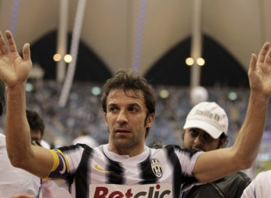 Del Piero takes a break from his healing duties in Dubai.