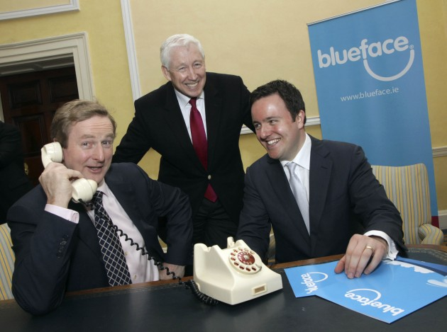 Enda on the phone