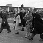 On January 31, 1952, King George (right) and his wife Elizabeth (second right) waved goodbye to Princess Elizabeth and her husband Philip, as they set off on a tour to Kenya - where they would stay in a home bought for them as a wedding present. It was the last time Princess Elizabeth would see her father alive.