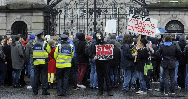 In pictures: Anti-ACTA protesters march in Dublin