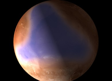 Artist's impression of how the ocean on Mars may have looked