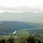 Those views of Slaney Valley from the derelict gamekeeper's cottage seen previously.