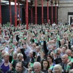 Delegates vote on the reorganisation of the party's voting structure. 