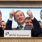Taoiseach Enda Kenny after ringing the opening bell at the New York Stock Exchange on March 19, 2012 in New York City. (Photo by Ben Hider/NYSE Euronext)