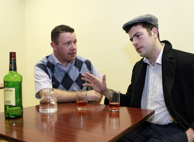 Barry Ryan as John Bosco and Conor Dillon as Micky Molly in the Garda version of The Chastitute
