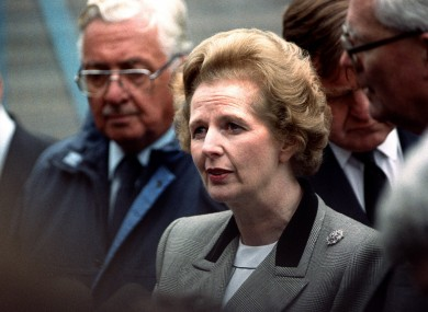 Thatcher at Hillsborough the day after the disaster in 1989