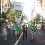 Ciaran Lowney sent us this pic of the parade in Auckland, New Zealand (probably the warmest-looking Patrick's Day we've ever seen in our lives). He's holding his 4-year-old son Sean who is going to visit Ireland for the first time this June. Aw. 