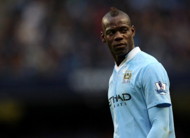 Mario Balotelli: fined again.