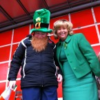 Irene Barr took this picture of Senator Mary Moran and her son Cillian at the parade in Dundalk. 