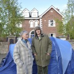 Brendan and Asta Kelly are camping outside her former home in South Dublin.