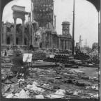 San Francisco's City Hall stands devastated after the disaster. (Library of Congress, Prints & Photographs Division)